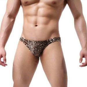 Other - NEW! Brown Leopard Briefs